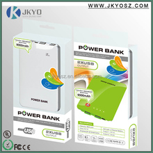Best selling Double USB Output Portable Mobile Power Bank For Mobiles