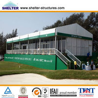 2013 hard wall glass door tent with stair and balcony