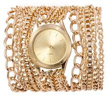 Hot Geneva Women's Quartz Steel Watch Reloj Casual Quartz Wristwatches Rose Gold Chain Watch