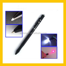 2015 Hot Sale LED Flashlight And PDA Pen With Laser Pen 4 in 1