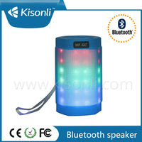 LED Light speaker stereo wireless bluetooth speaker with U-disk TF card slot
