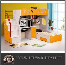 New design full over combined desk set multifunction bunk bed