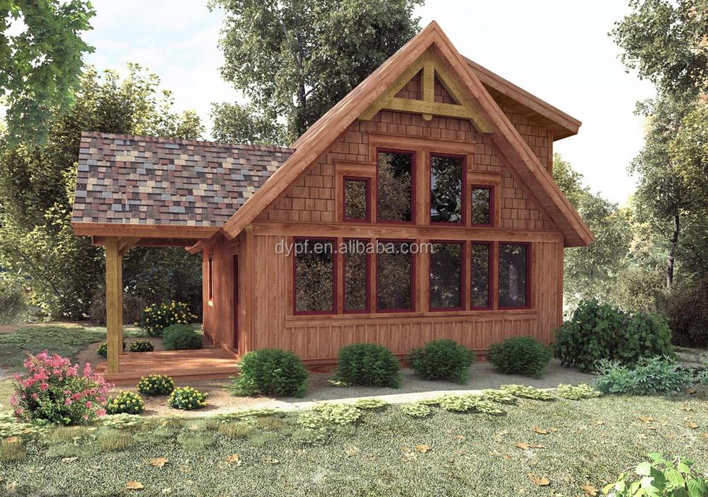 Pr fabriqu e petite maison en bois maison en bois rond for Petite maison prefabriquee en bois