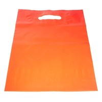 Orange color Eco Friendly Die Cut Punch Plastic Bag