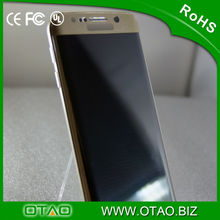 black white glass screen protector otao 3d curved full cover for S6 edge