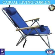Wooden Portable Folding Reclining Beach Chair