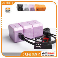 JY-006-1 universal travel adapter usb with custom logo for corporate gifts,Promotional OEM USB gift
