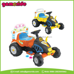 XR0904 children baby electric ride on car with shiny lights pedal go toy car