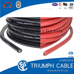 heat resistance silicone rubber coat / insulation wire cable
