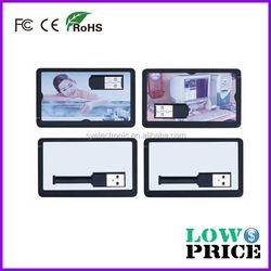2015 Bulk cheap card shape 1tb usb flash drive with customized logo