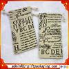 Small Custom Linen Drawstring Bag / Linen Gift Bag /Linen Bag