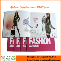 Coated Paper UV Glossy Fashion Catalogue Book