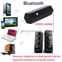 3.5mm Male to Male USB Wireless Bluetooth 2.1 Stereo A2DP HIFI Audio Music Receiver Adapter Dongle For iPhone PC +Retail Package