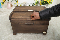 Wooden Rice Storage Box With double Compartment Paulownia Wood