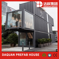 China new design low cost house prefab 40ft shipping container homes for sale