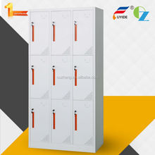 movable handles customize color 9 door powder coated steel storage locker office furniture