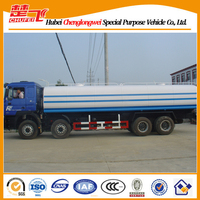 Used water tank truck 8x4 Shacman water transportation truck 380hp manual transmission CCC CE certification water truck for sale