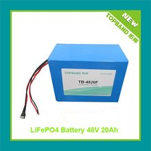 Topband Safety LiFePO4 48V 20Ah motercycle battery with PCM