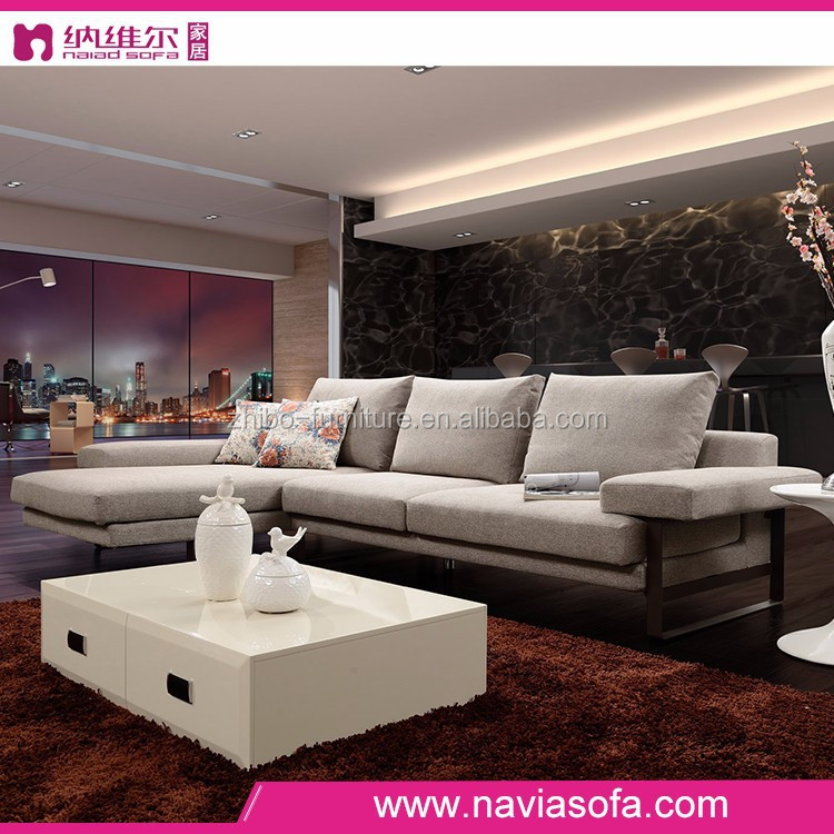 Chinese latest design hall sofa set designs modern fabric l shape sofa for living room buy for Images of couch for hall rennes