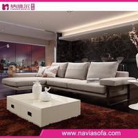 Chinese latest design hall sofa set designs modern fabric l shape sofa for living room