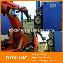 Car parts grinding humanoid robot arm