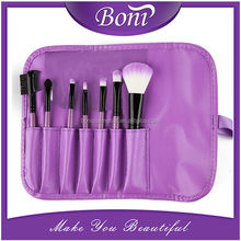 Purple Brand New Professional 7 pcs Makeup Brush Set tools Toiletry Kit Wool Brand Make Up Brushes Set Case