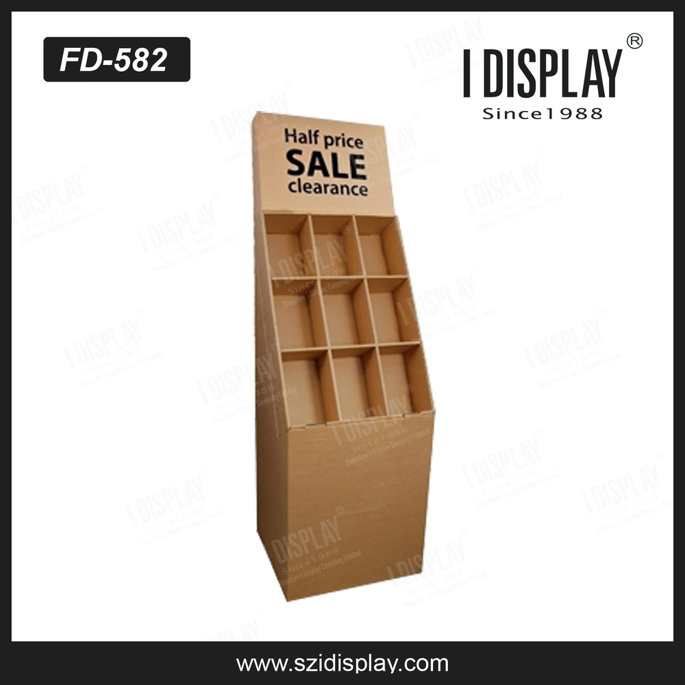 Free Standing Cardboard Scarf Display Stand For Retail Buy Scarf
