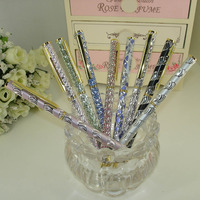 British Style Aluminium Pen Etching Pattern Design Metal ball pen Cross refill twist action Retail Shop Writing Pens