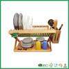 bamboo kitchen design organizers, folding dish rack with utensils holder