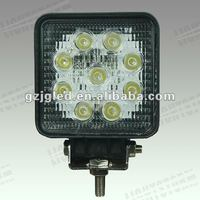 27W LED Work Lamp 12V/ Auto accessories / led roof light for truck,offroad 4x4 car parts