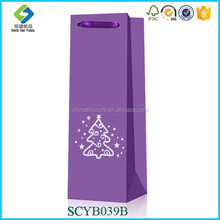 Silvery Stamp Eco-friendly Custom Luxury Wine Bag,Shopping Bag,Luxury Purple