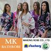 Jinhua MK silk wholesale wedding women taking a shower sexy bridal bridesmaid robes