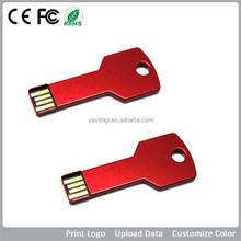 Promotion custom logo key usb flash drive1GB-64GB