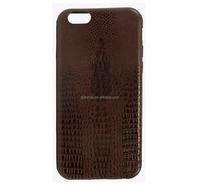 Luxury leather soft alligator skin premium PU flexible slim back shell case TPU bumper cover for iPhone 5s/ 6 plus