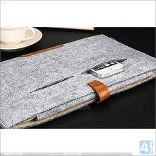 Protective Briefcase Sleeve for Macbook Air 12, High Quality Woolen Felt Envelope Laptop Case For Macbook Air 12