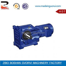 ZIBO K series gearbox with high torque low rpm gear motor/K Bevel Gearbox,Gear Motor,electric motor with reduction gear