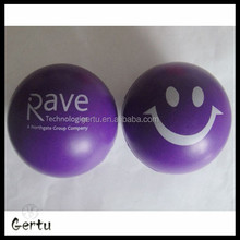 6.3cm cute smile face anti stress balls