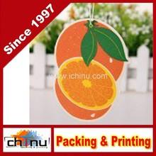 Orange Shaped Stiff Paper Card Harmless Long lasting Fragrance Air freshener Pendant Decor (450042)