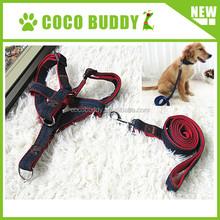 Denim collar leash for male dog high quality denim leads for boys dog factory price