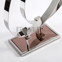 Fashionable Mirror Stainless steel Twin belts display for rack chain-stores distributors