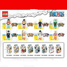Cartoon Anime One Piece Plastic Building Blocks Minifigures 8pcs/set Luffy Action Figure Model Doll Toys