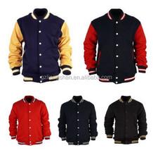 OEM Wholesale Letterman Varsity College Jacket Jersey Uniform Korea Baseball Two Tone Splicing Jackets