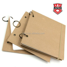 Hardcover notepad A4 A5 A6 pads with big spiral notebook writing pad with elastic ribbon