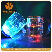 China manufacturer barware LED flashing cups,500ml 16oz LED beer mugs cups with LOGO printing,color changing glowing beer cups