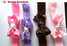 Children's jewelry creating flower heads with bubbles Europe and the United States of cloth with good elastic hair band of the g