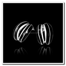 2015 Newest Design Women's Fashion Earring, Platinum Plated Black Epoxy Stud Earrings Jewelry, Stock Retail