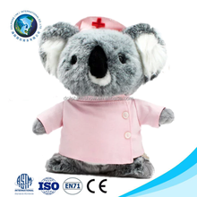 Cute koala bear plush nurse bear toy fashion kids toy soft stuffed grey koala bear plush