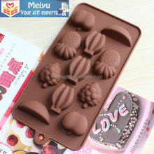 Food grade silicone cooking baking mold/ silicone biscuit mold for fruit shape