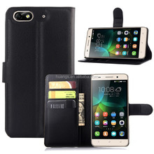 for huawei honor 4c flip cover case, wallet stand flip leather cover case for huawei honor 4c