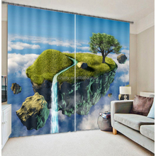 Hot selling home window curtain 3d photo printed 100% polyester home decor curtain
